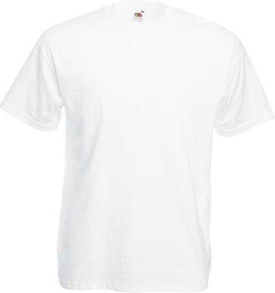 Fruit of the Loom T-shirt Valueweight, Wit, Maat 3XL ( 5 stuks onbedrukt)