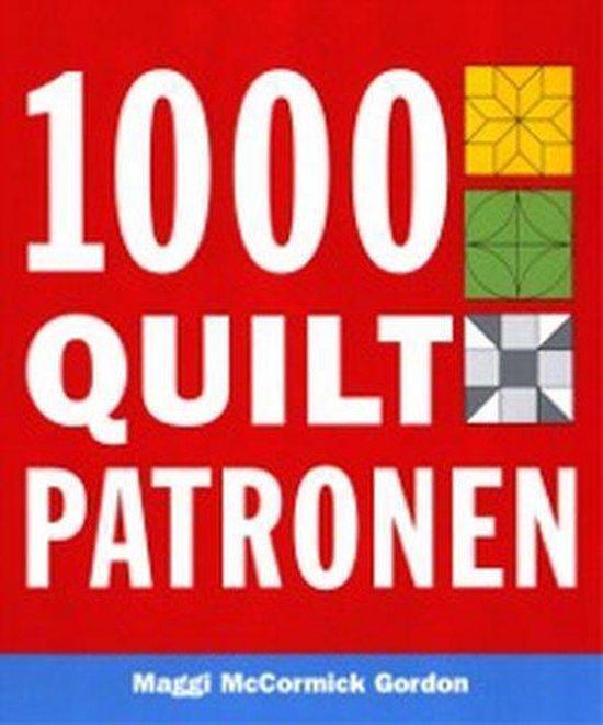 Cover van het boek '1000 quilt patronen' van Maggi MacCormick Gordon en M. MacCormick-Gordon