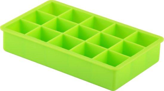 Dotz - Silicone ijsblokjesvorm - Kubus - Groen - 3,3x3,3x3,3cm