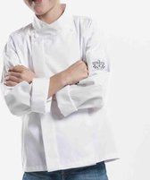 Chaud Devant - Chef Jasje - Koksbuis voor kinderen - Wit - 92-98 = 1-2 jaar