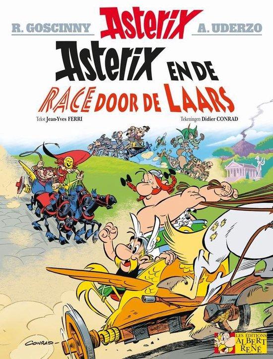 Boek cover Asterix 37. De race door de laars van Jean-Yves Ferri (Paperback)