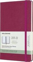 Afbeelding van Moleskine 18 MND Agenda - 2019/20 - Wekelijks - Large (14x21 cm) - Snappy Pink - Harde Kaft