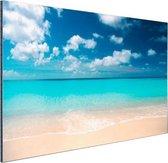 Tropische zee en strand Aluminium 120x80 cm - Foto print op Aluminium (metaal wanddecoratie) / Zee en Strand