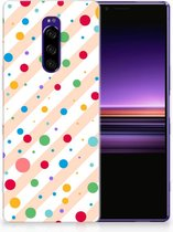 Sony Xperia 1 TPU Hoesje Design Dots