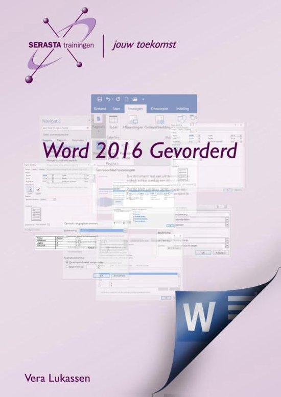 Word 2016 Gevorderd - Vera Lukassen | Fthsonline.com