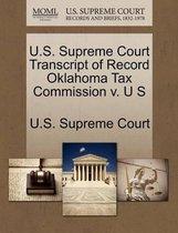U.S. Supreme Court Transcript of Record Oklahoma Tax Commission V. U S