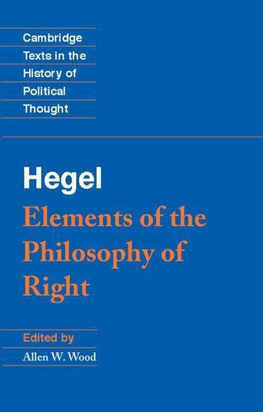 Boek cover Hegel: Elements of the Philosophy of Right van G. W. F. Hegel (Onbekend)