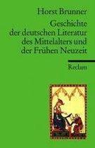 Geschichte der deutschen Literatur des Mittelalters und der Frühen Neuzeit im Überblick