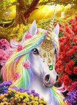 Diamond Painting - Crystal Art Unicorn Met Frame 50 X 40 Cm