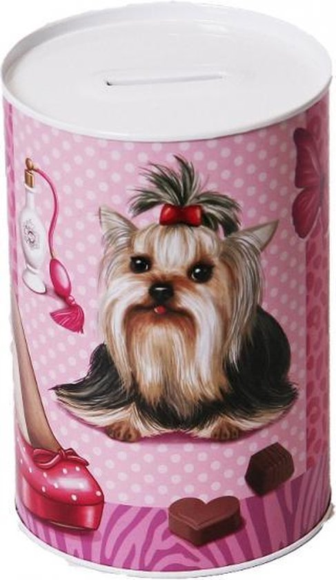 Spaarpot Shih Tzu hond 15 cm