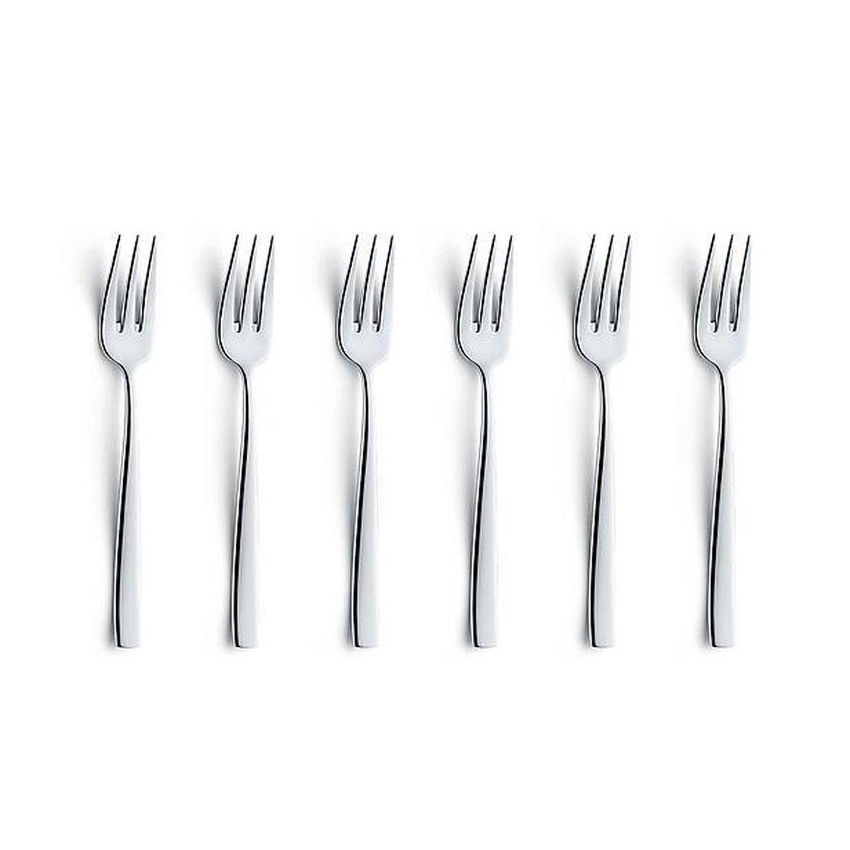Excellent Houseware Gebaksvorkjes - 6 stuks - RVS