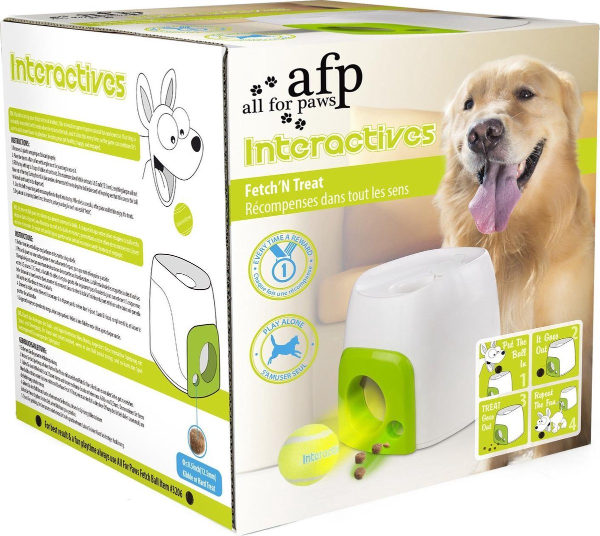 Afp Interactive Fetch 'N Treat - Hondenspeelgoed - 16 x 16 x 20 cm - AFP