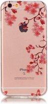 GadgetBay Bloesem TPU iPhone 6 6s hoesje zen cover - Doorzichtig - Bloemtakken