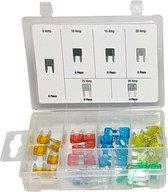 Mini Steekzekeringen set 40 delig in box div soorten AMP zekeringen