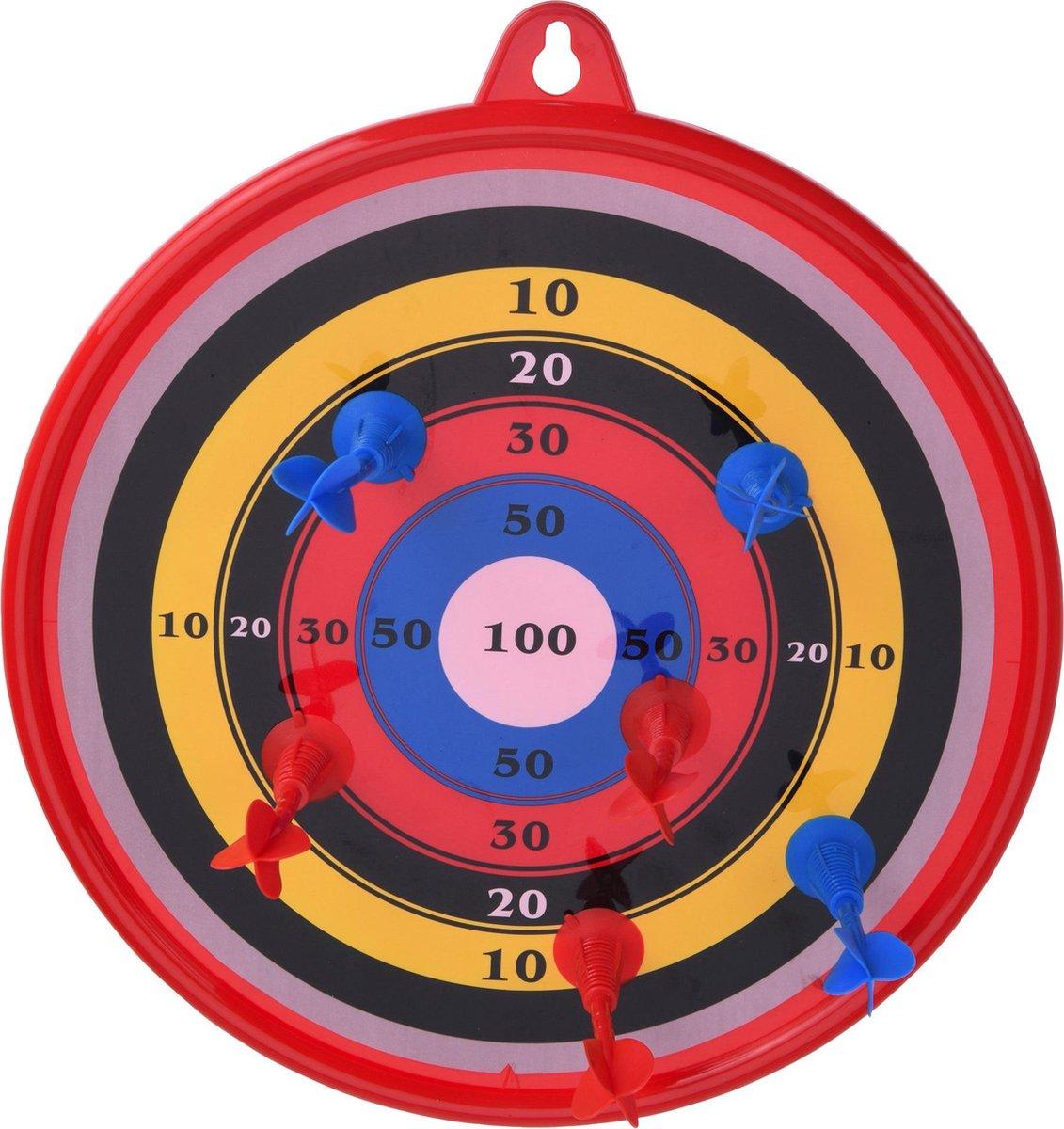 Tender Toys Dartbord Met Zuignappijlen 7-delig