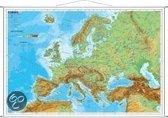 Europa physisch im Miniformat. Wandkarte mit Metallleiste