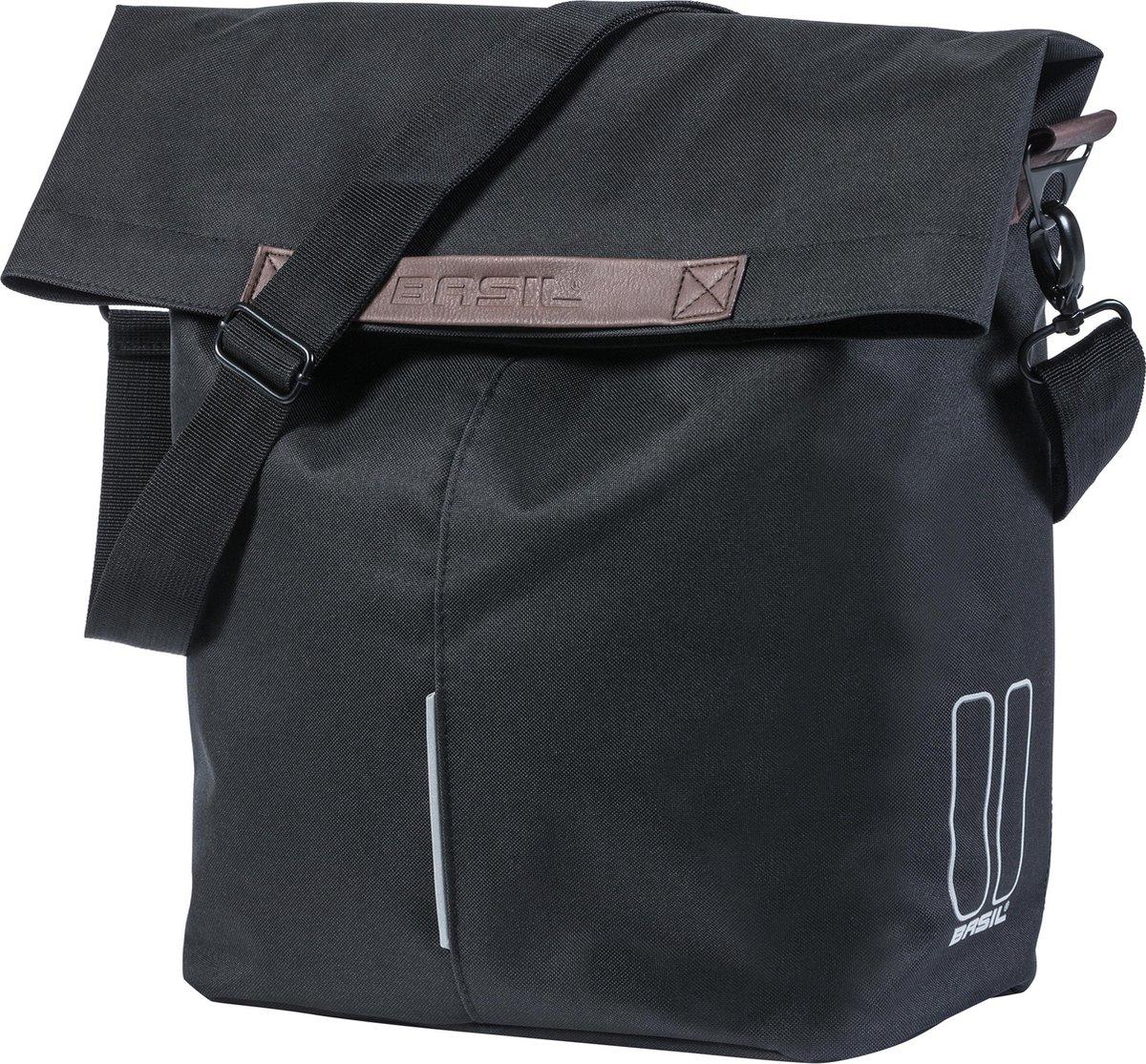 Basil City fietsshopper - Enkele Fietstas - 16 liter - Zwart