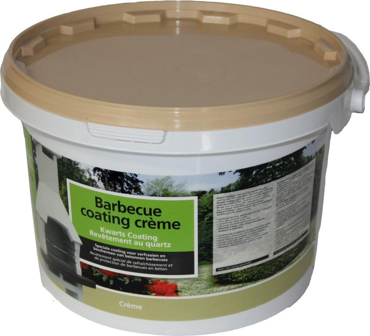 Decor betonnen barbecue coating crème 8kg