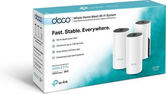 TP-Link Deco E4 - Mesh Wifi - Triple Pack / Wit