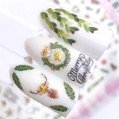 Kerst Nagelstickers - Kerstmis Nagel Stickers  - Christmas Nail Art - Nagel Decoratie - Nagelversiering - Nageldecoratie - 3D Nail Vinyls - French Manicure Stickers - Rendier