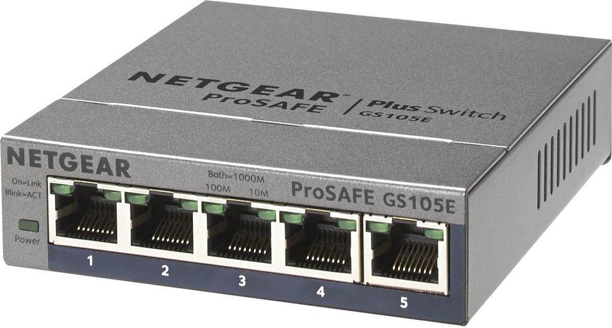 Netgear ProSAFE GS105E - Netwerk Switch - Smart managed - 5 poorten