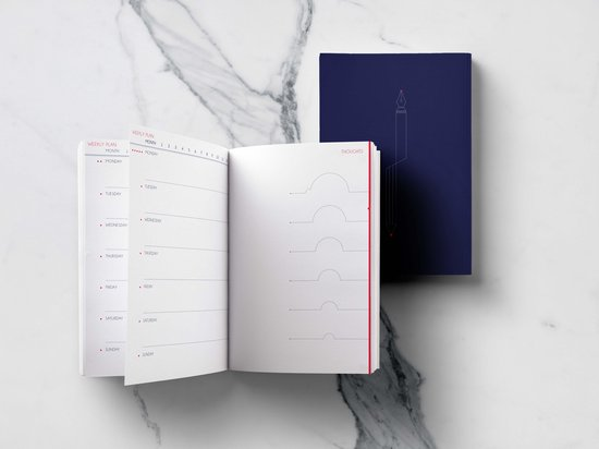 Afbeelding van One Thousand Ideas Planner, datumloze agenda, bullet journal, agenda & notitieboek in een