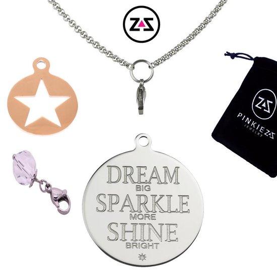 Pinkiezz munt ketting ster 'Dream Sparkle Shine'