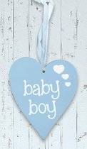 "Houten hart ""Baby Boy"""