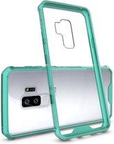 Let op type!! Voor Galaxy S9 + acryl + TPU dekken schokbestendige transparant Armor beschermende back cover(Green)