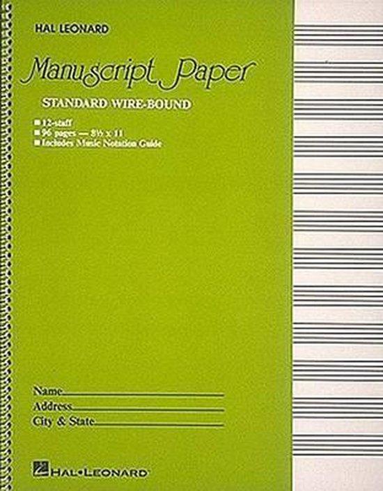 Boek cover Standard Wirebound Manuscript Paper (Green Cover) van Hal Leonard (Onbekend)