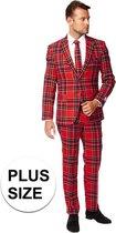 Grote maten heren kostuum The Lumberjack Schotse tartan ruit - Opposuits pak - Verkleedkleding/Carnavalskleding 58 (4XL)