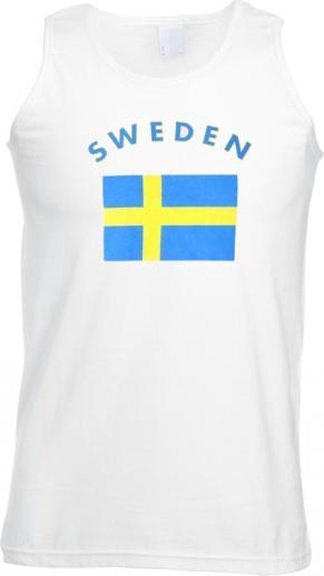 Witte heren tanktop Zweden M