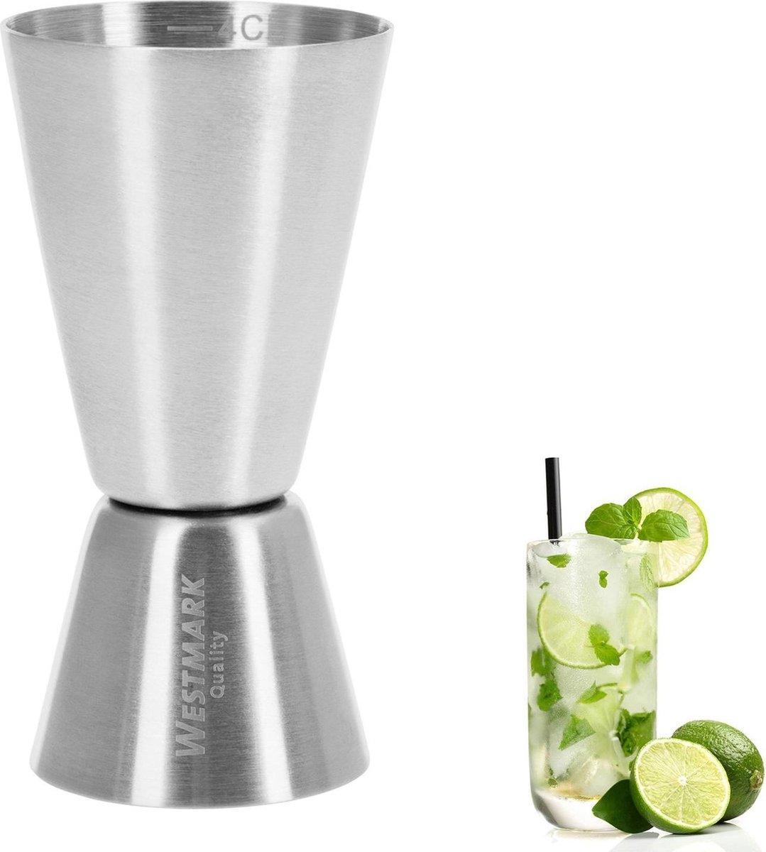 Westmark Maatbeker/Barmaatje, Jigger voor Cocktails - 2 Maateenheden: 2/4 cl - RVS