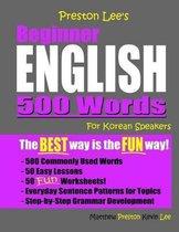 Omslag Preston Lee's Beginner English 500 Words For Korean Speakers