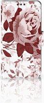 Smartphone hoesje Nokia 3 Wallet Book Case Watercolor Flowers