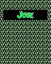 120 Page Handwriting Practice Book with Green Alien Cover Jose