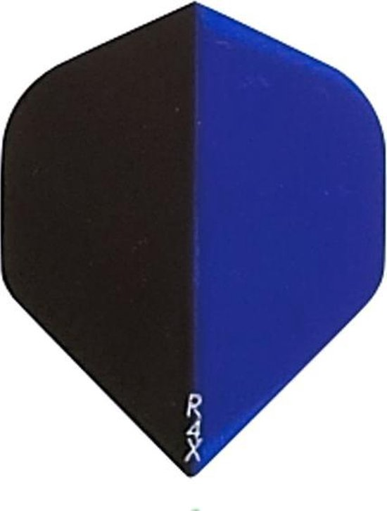 Dragon darts - 10 sets (30 stuks) - 2-Tone Zwart-blauw - darts flights - extra stevige - dart flights