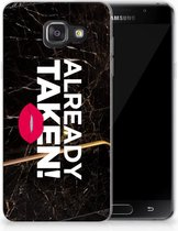 Samsung Galaxy A3 2016 TPU Hoesje Design Already Taken Black