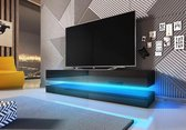 TV Meubel Zwevend - Zwart - 140 cm - Inclusief Led  - Modern Design