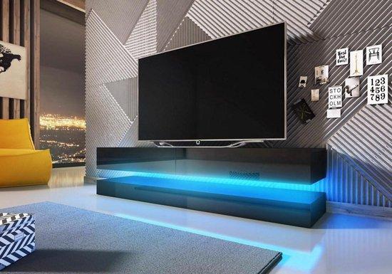Modern Tv Meubel Zwart.Bol Com Tv Meubel Zwevend Zwart 140 Cm Inclusief Led