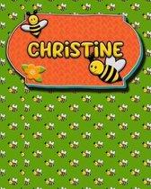 Handwriting Practice 120 Page Honey Bee Book Christine