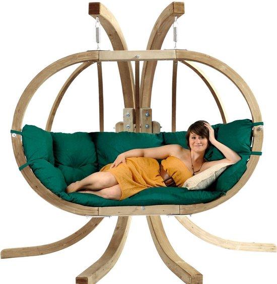 Globo Hangstoel Standaard.Bol Com Amazonas Globo Chair Royal 2 Persoons Groene Kussens