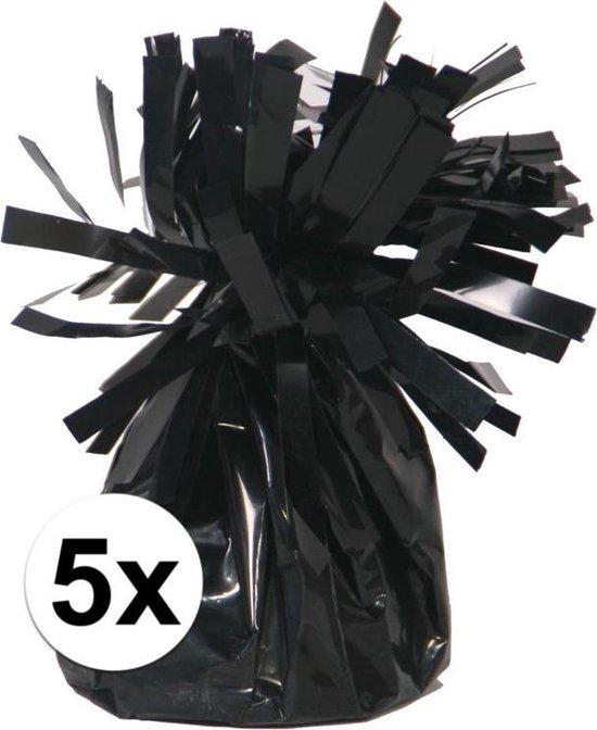 5 Ballongewichten zwart 170 gr