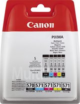 Canon PGI-570/CLI-571 - Inktcartridge / Zwart / Cyaan / Magenta / Geel