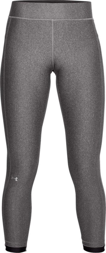 Under Armour HG Armour Ankle Crop Dames Sport Legging - Charcoal Light Heather - Maat S