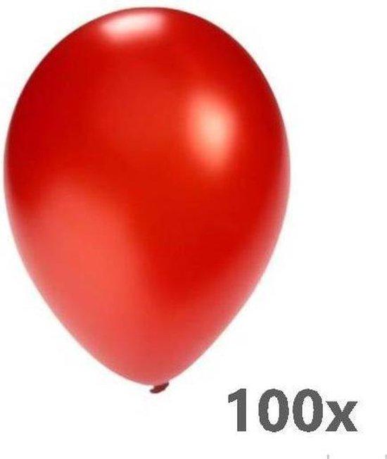 Festival  Ballonnen - Rood - Metallic - 28cm. - 100st.