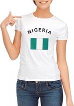Wit dames t-shirt Nigeria XL