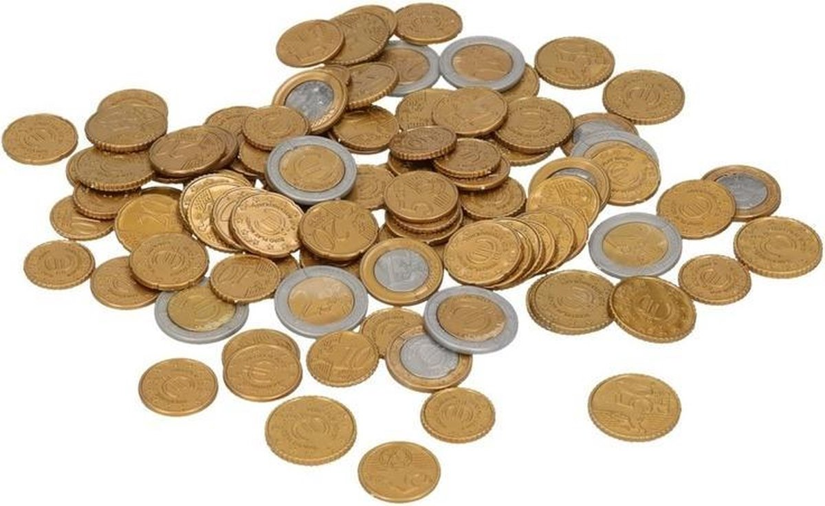 Speelgoed euro munten 100 stuks - Merkloos