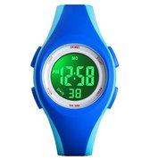 Kinderhorloge – Stopwatch – Waterdicht – Blauw - Giftbox