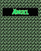 120 Page Handwriting Practice Book with Green Alien Cover Angel